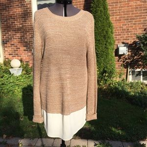 Faded Glory Faux Layer Melange Knit Sweater